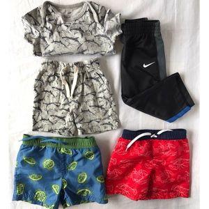 5 piece Assorted boy's Lot bundle with Nike pants